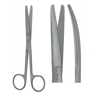 Ножницы Гразила тупоконечные изогнутые, дл. 145 мм. 07-115-14