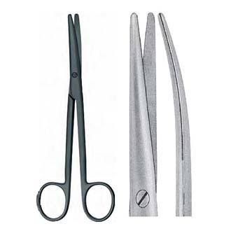 Ножницы Майо-Лексера керамические тупоконечные изогнутые, дл. 160 мм. 07-151-16k