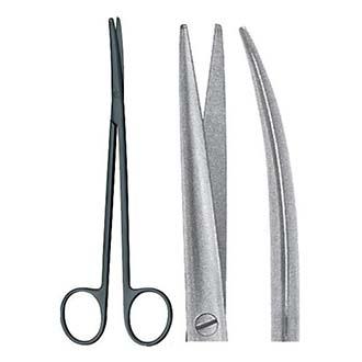 Ножницы Метценбаума керамические изогнутые для рассечения мягких тканей и сосудов