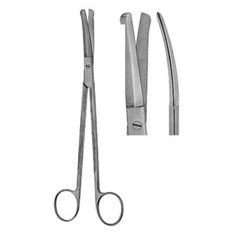 Ножницы оториноларингологические Гуда изогнутые тупоконечные дл. 190 мм. 07-599-19