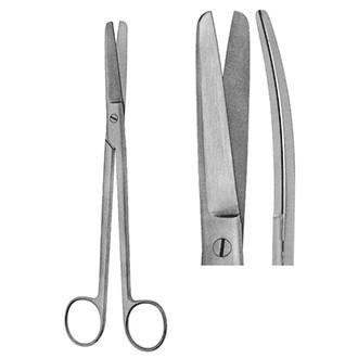 Ножницы ректальные изогнутые для рассечения мягких тканей и сосудов длина 220 мм.