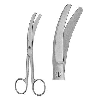 Ножницы Буша изогнутые по ребру тупоконечные для отсечения пуповины длина 160 мм.