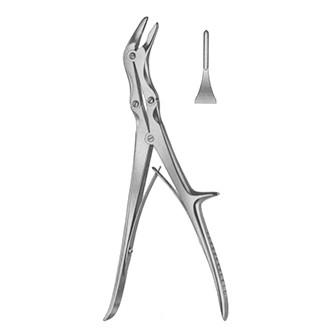 Кусачки костные Эшлина изогнутые по ребру 2-х шарнирные. 33-953-01