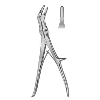 Кусачки костные изогнутые Эшлина по ребру 2-х шарнирные, дл.230 мм.