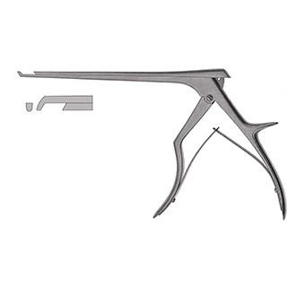 Выкусыватель (кусачки) для гемиламинэктомии с нижним горизонтальным толкателем, шириной рабочей части 3 мм, углом 130 град. и длиной рабочей части 200 мм. 39-514-03