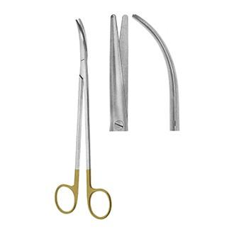 Ножницы Метценбаума Торека тупоконечные изогнутые, с твердосплавными вставками длина 230 мм.