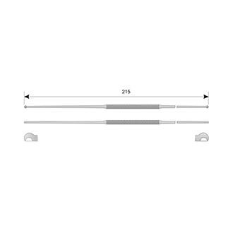 Ложка гинекологическая детская, дл. 215 мм