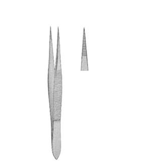 Пинцет анатомический остроконечный для удаления осколков, дл. 85 мм. 09-570-08