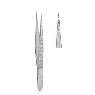 Пинцет анатомический остроконечный для удаления осколков, дл. 100 мм. 09-570-10
