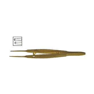 Пинцет фиксационный для мышц с замком прямой, титановый OF 181L