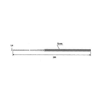Зонд гортанный для фиксации ватного тампона Длина - 280 мм. Диаметр - 1.4 мм.