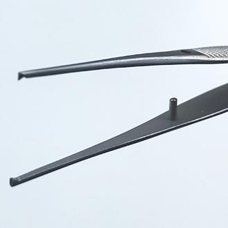 Пинцет деликатный хирургический прямой