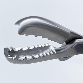 Зажим-костодержатель Фарабефа прямой для захватывания и удержания трубчатых костей