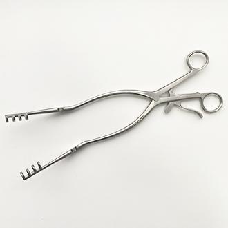 Расширитель нейрохирургический Бекмана (Егорова-Фрейдина) 4х4 зубый острый дл. 310 мм. 17-817-31