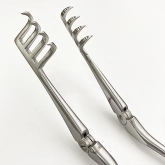 Расширитель нейрохирургический Бекмана (Егорова-Фрейдина) 4х4 зубый острый