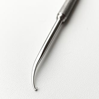 Микрофлебэкстрактор-флебдиссектор (аналог крючков Эша (Oesch) с круглой ручкой и лопаткой) № 2.