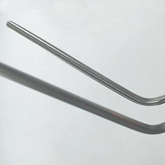 Зажим сосудистый Дебейки изогнутый с атравматической насечкой Дебейки, дл. 180 мм. 31-477-18