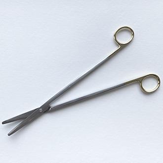 Ножницы Метценбаума с твердосплавными вставками изогнутые для рассечения мягких тканей и сосудов