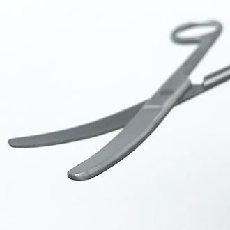 Ножницы тупоконечные вертикально-изогнутые