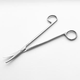 Ножницы Метценбаума  изогнутые для рассечения мягких тканей и сосудов.