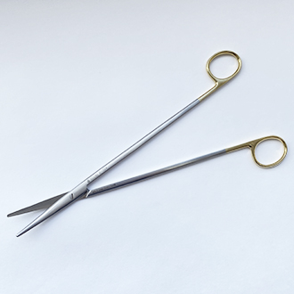Ножницы  Метценбаума Фино с твердосплавными вставками  изогнутые  для рассечения мягких тканей и сосудов.