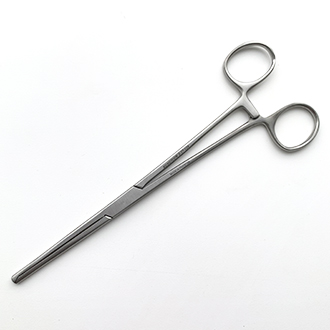Зажим кровоостанавливающий 1х2 зубый, зубчатый прямой № 3.