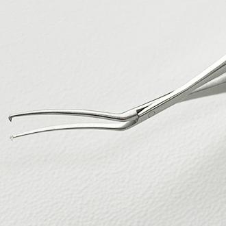 Пинцет для капсулорексиса по Инамура, двухшарнирный, титановый/стальной