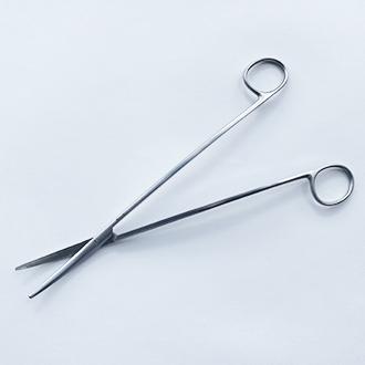 Ножницы Метценбаум Фино изогнутые с изогнутыми ручками